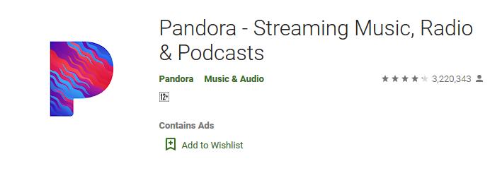 Pandora - Streaming Music, Radio Podcasts