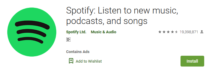 Spotify Listen to new music