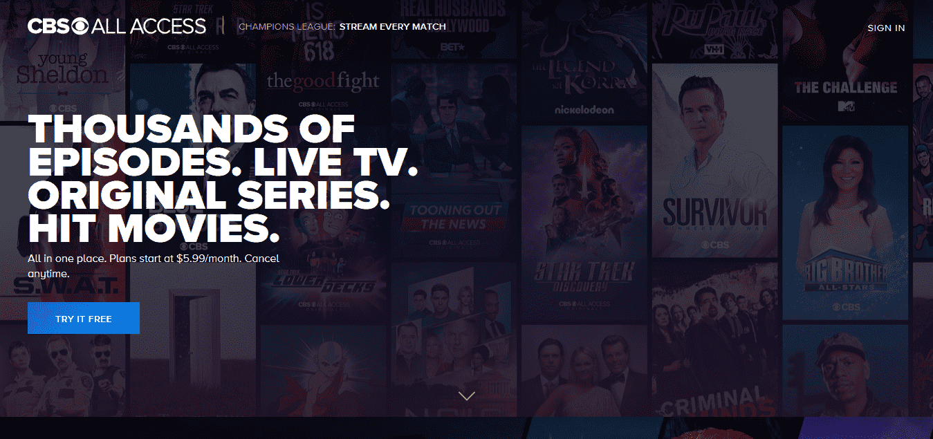 Live TV Streaming, On Demand, Originals, and Movies – CBS All Access