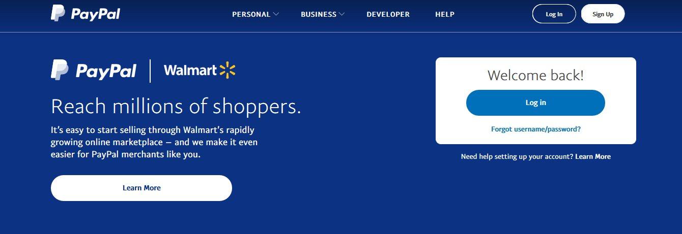 PayPal Cash Payment