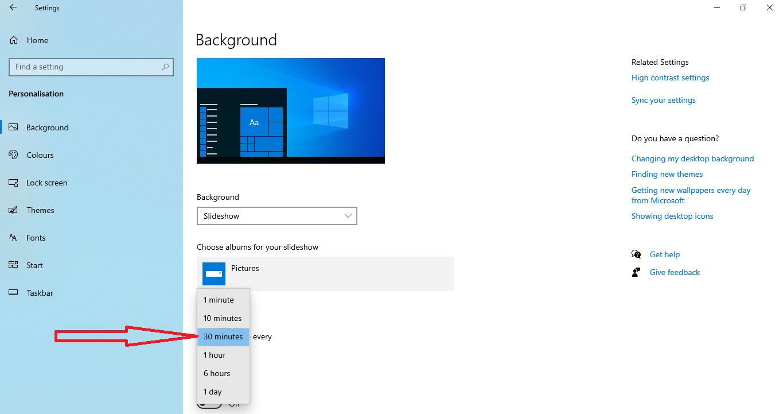 Change the desktop background Step 2
