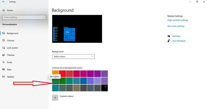 Change the desktop background Step 3