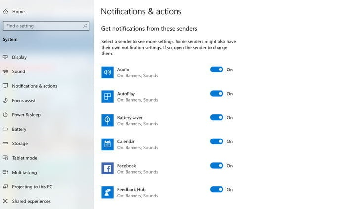 Customize Notifications For Each Application