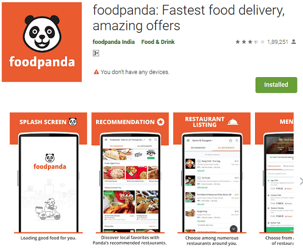 Foodpanda Fastest food delivery, amazing offers
