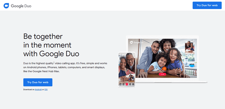 Google Duo - Free High-Quality Video Calling App