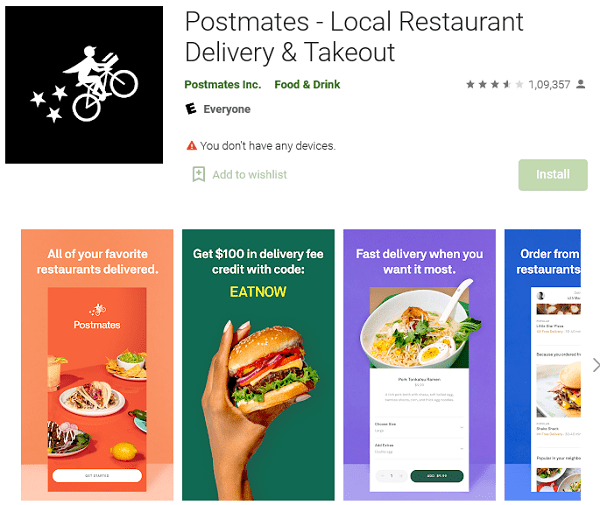 Postmates - Local Restaurant Delivery Takeout