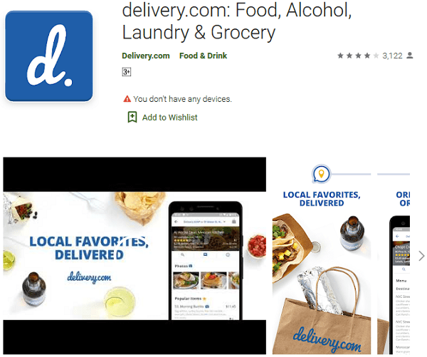 delivery com Food, Alcohol, Laundry Grocery