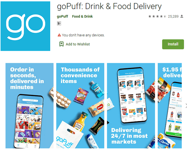 goPuff Drink Food Delivery